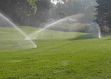 Lawn sprinklers and automatic watering systems